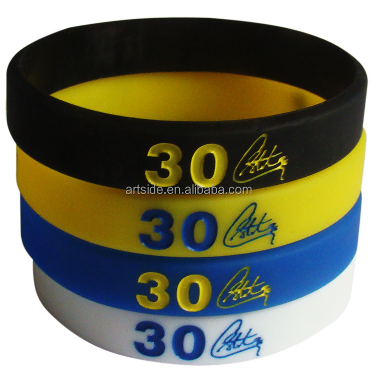 4pcs Set Curry Basketball Bracelets Sports Wrist Strap Silicone New Thickening Product On
