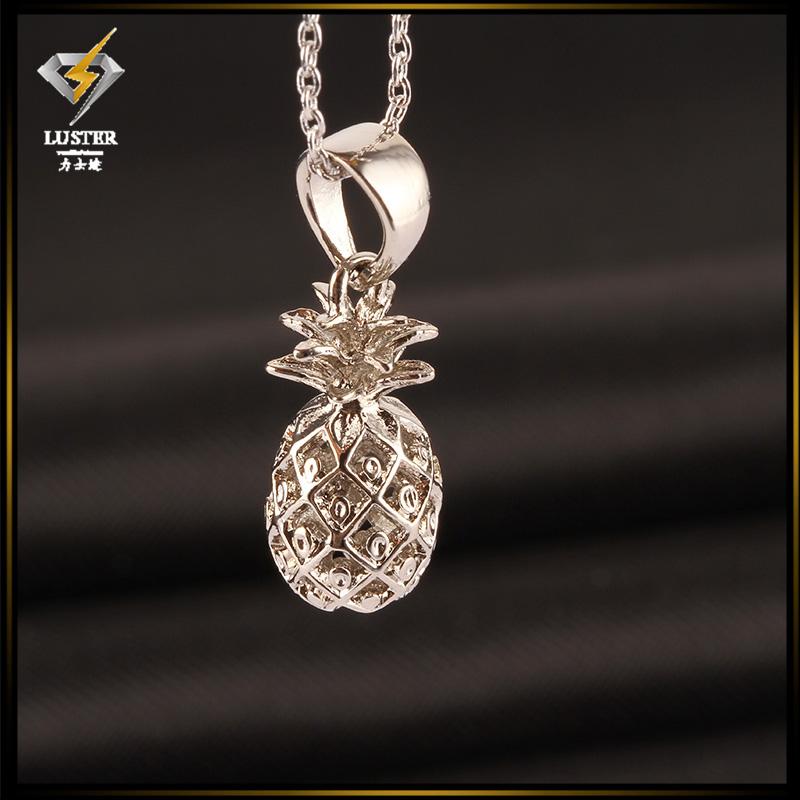 b750e489705d Piña dulce oro plata rodio plateó la joyería fruta del encanto COLLAR  COLGANTE para las mujeres envío libre