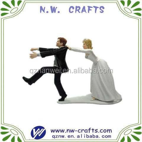 Naughty resin wedding figure party decor