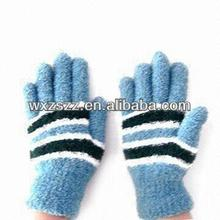 Cotton Lint Knitted cheap gloves colored girls winter gloves