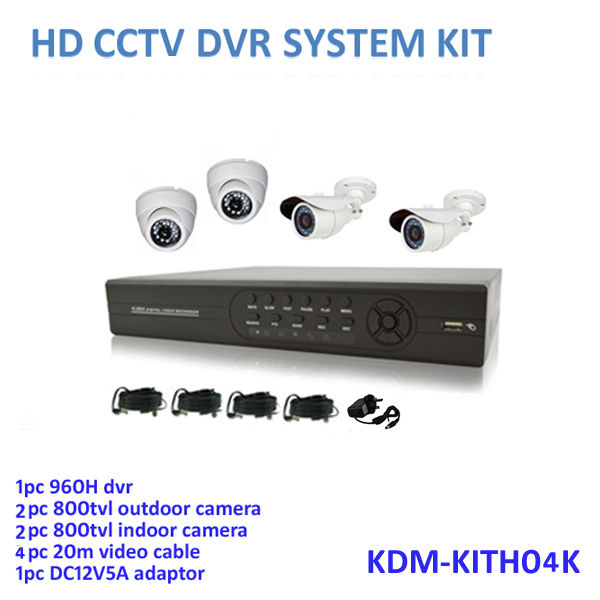 New Arrival! Outdoor and indoor cameras with night vision, 960H HD 4ch dvr digital security camera kits