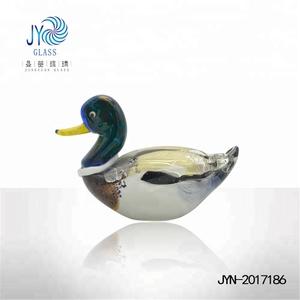 Wholesale high quality animal duck glass figurines
