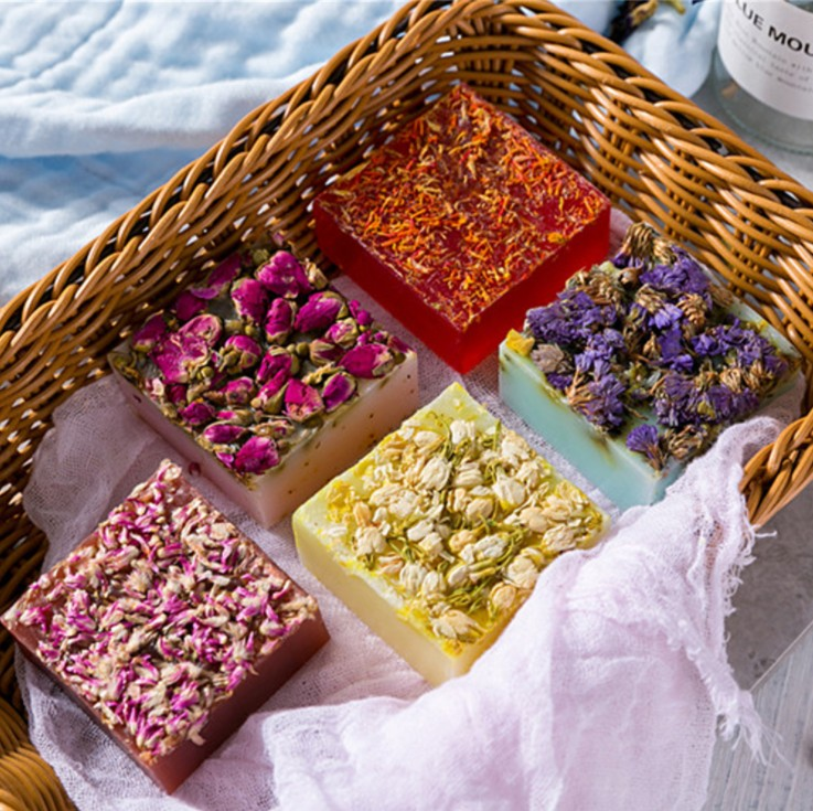 DIY Rose Handmade Soap face whitening cleaning bath toilet soap