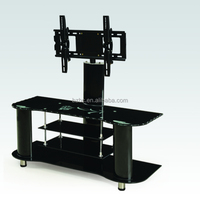 hot selling new model glass tv stand/Glass wall mount for tv table