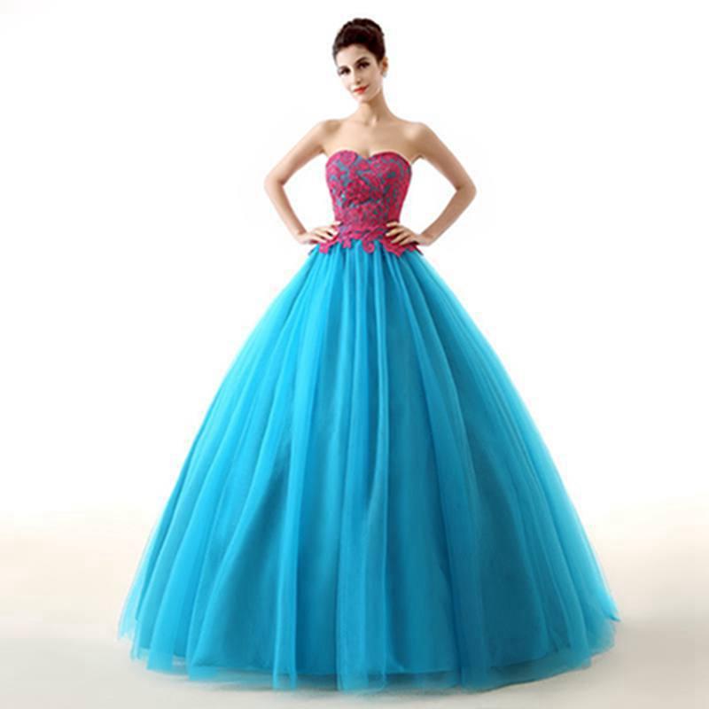 Get Quotations 2015 New Design Floor Length Party Dresses High End Strapless Colour Blocking Plus Size Slim Fit