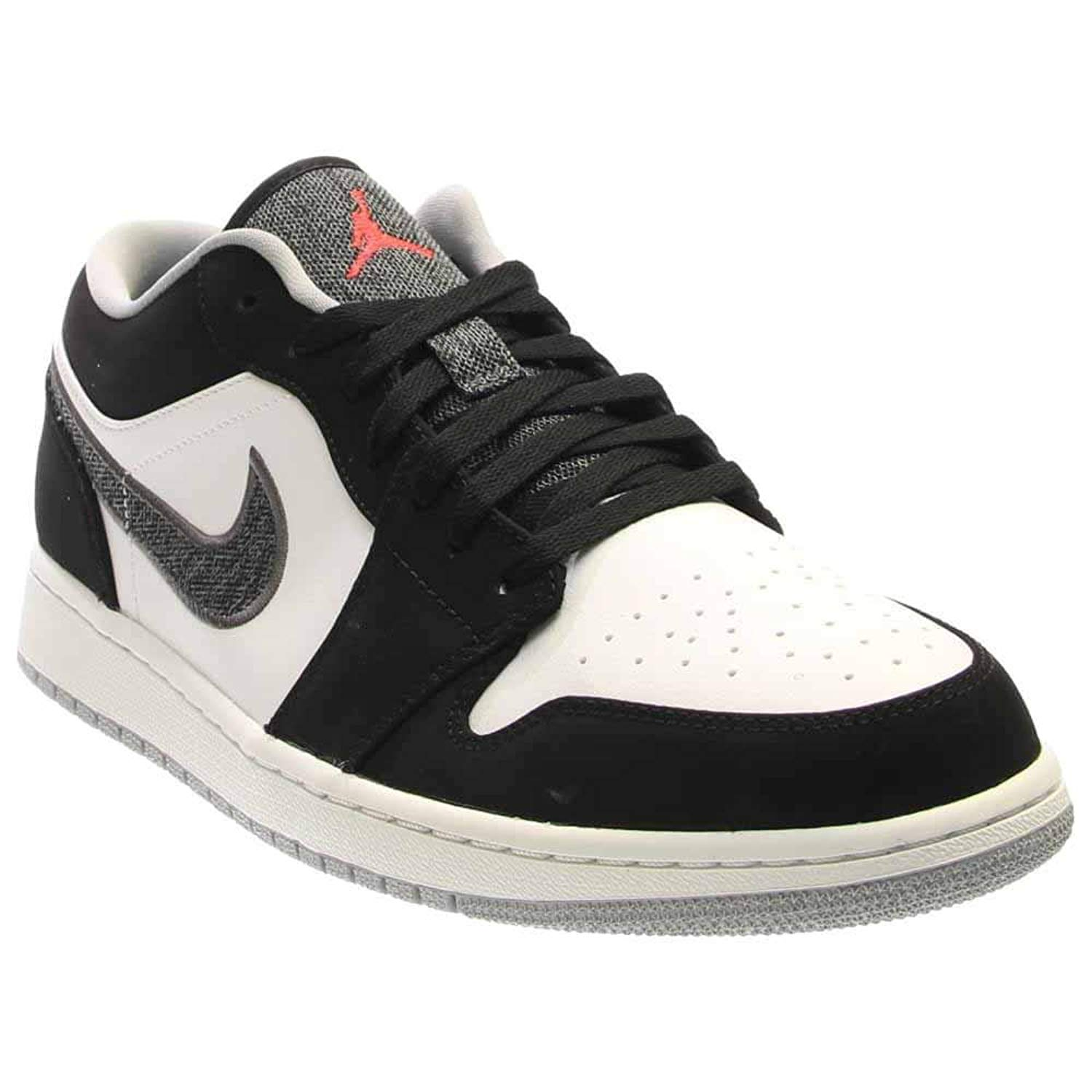 06d37bd717f5fb Get Quotations · Jordan 1 Low Black White Wolf Grey Infrared 23 553558-029  12