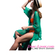 New Style Green Crinkle Sheer Chiffon Long Beach Kaftan Sexy Teen Models Pictures