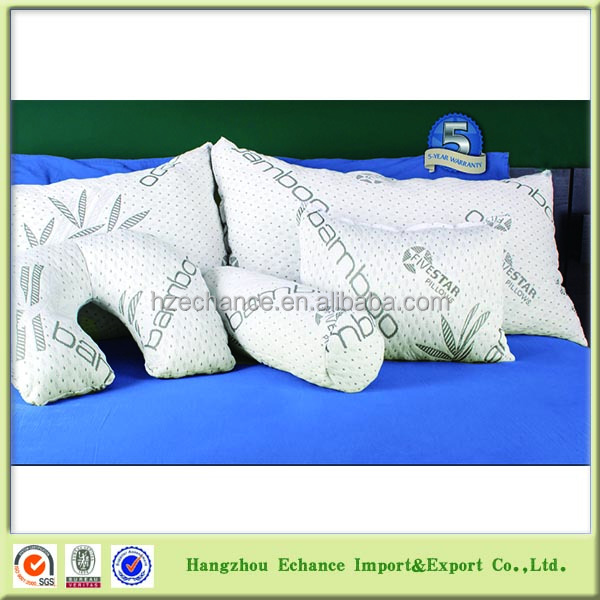 All Sizes And Shape Five Star Hotel Bamboo Pillow Shredded Memory Foam Filling