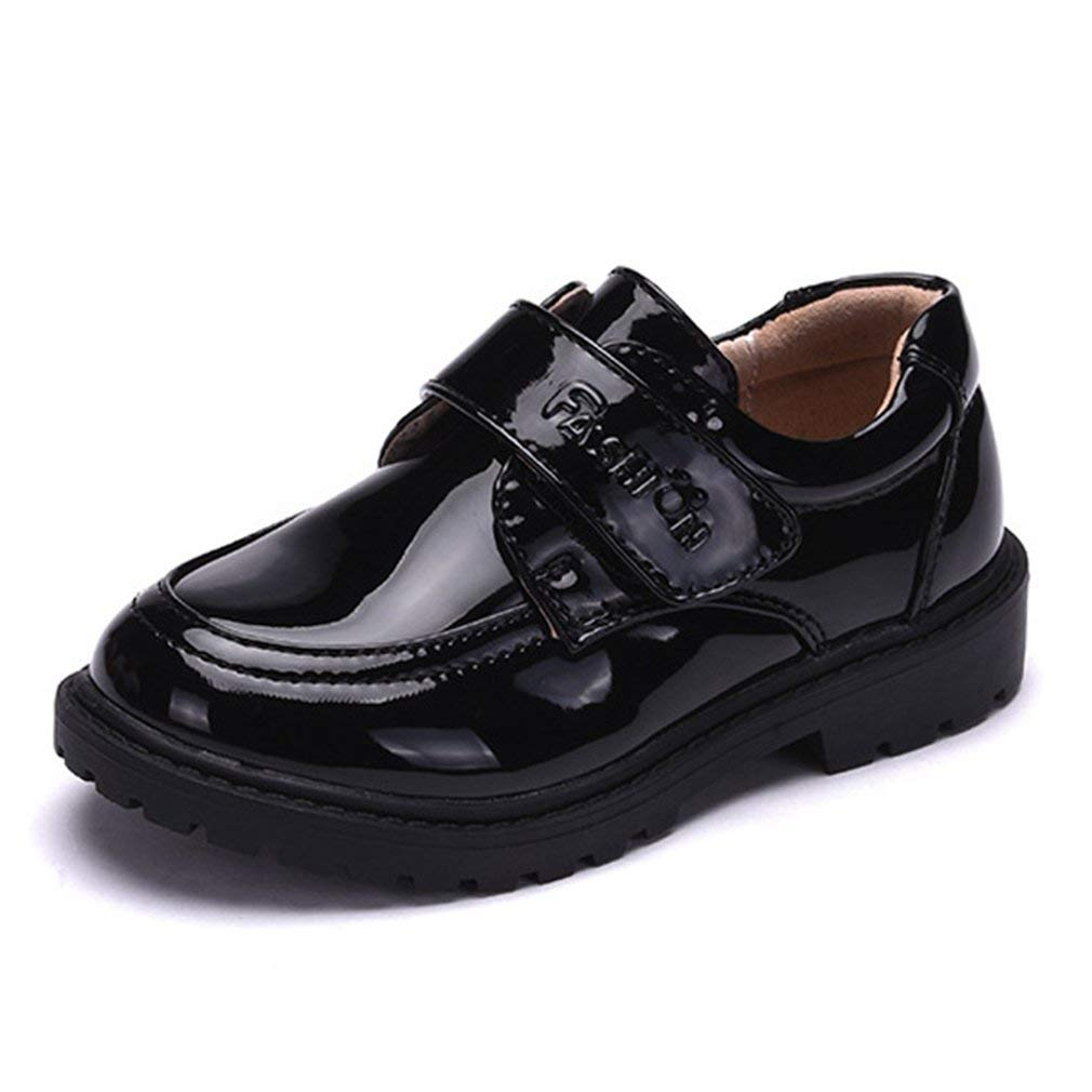 77d0ae0086f Get Quotations · Hoxekle Boys British Plain Oxford Shoes Kids Toddler  Breathable School Uniform Dress Buckle Wingtip Shoes