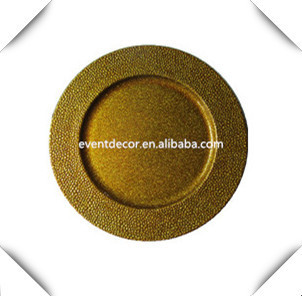 wholesale dishes golden fancy plastic wedding charger plates buy