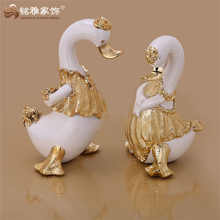 Mingya branded quality decoration home duck resin animal figure