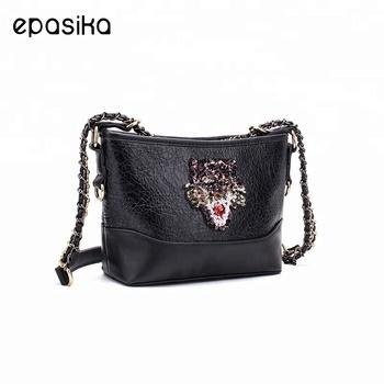 EPASIKA 2018 China manufacturers design pu leather black sling crossbody bag  fashion handbags girls lady shoulder 8dae1ce94d
