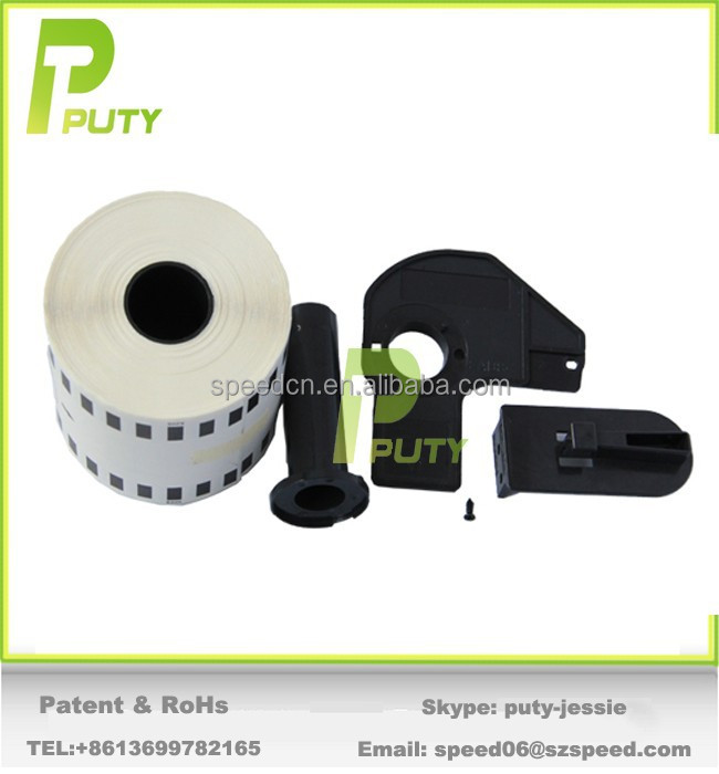 Puty direct selling dk label tape dk22205 with or without frame label thermal paper address labels DK-2205