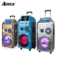 Single 10 Inch active professional DVD portable trolley battery speaker S-10V