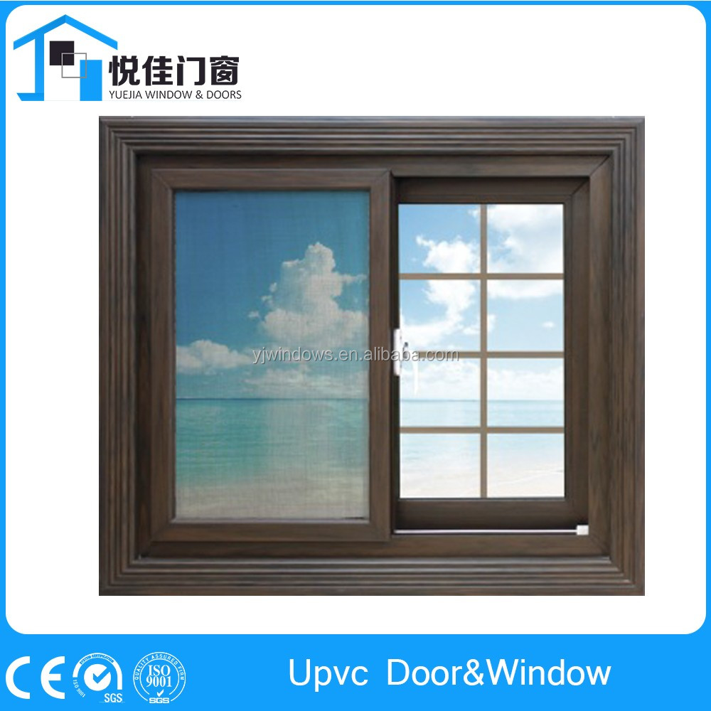 Window grill design and color - Antique Gray Color Upvc Sliding Window Grill Design Upvc Profile For Sale