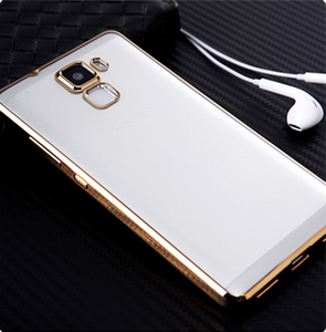 Electroplating TPU phone accessories case for huawei p8 lite smartphone cover