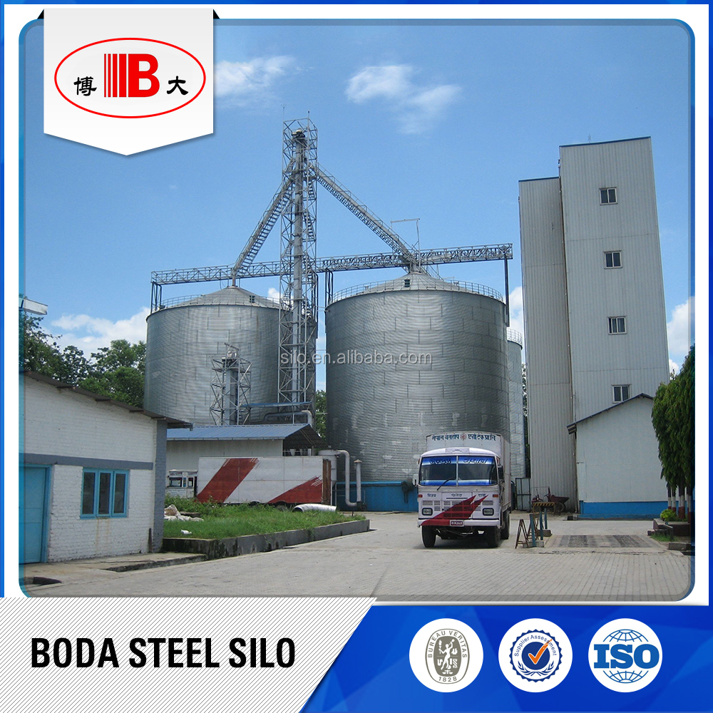 Asamblea de ma z silo de almacenamiento de grano de acero - Acero galvanizado precio ...