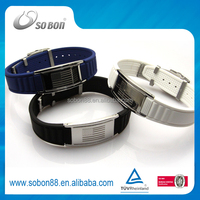 patent fashion negative ion stainless steel watch bracelet for men