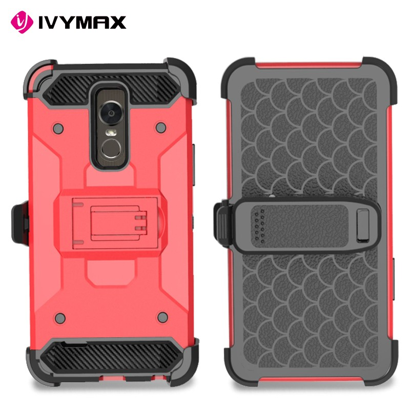 New arrival 3 in 1 hybrid kickstand shockproof phone case for IVYMAX dual layer holster and belt clip phone case for LG stylo 3