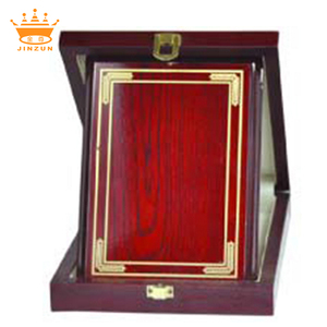 High Class Quality Blank Wooden Award Shield Plaque with Box