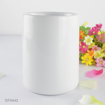 Pure White Porcelain Cylinder Elegant Flower Vase Wholesale Cheap