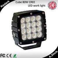 Super Bright LED Work Lights Free Logo Engrave IP68/69K Automotive Marine 12v Led Light
