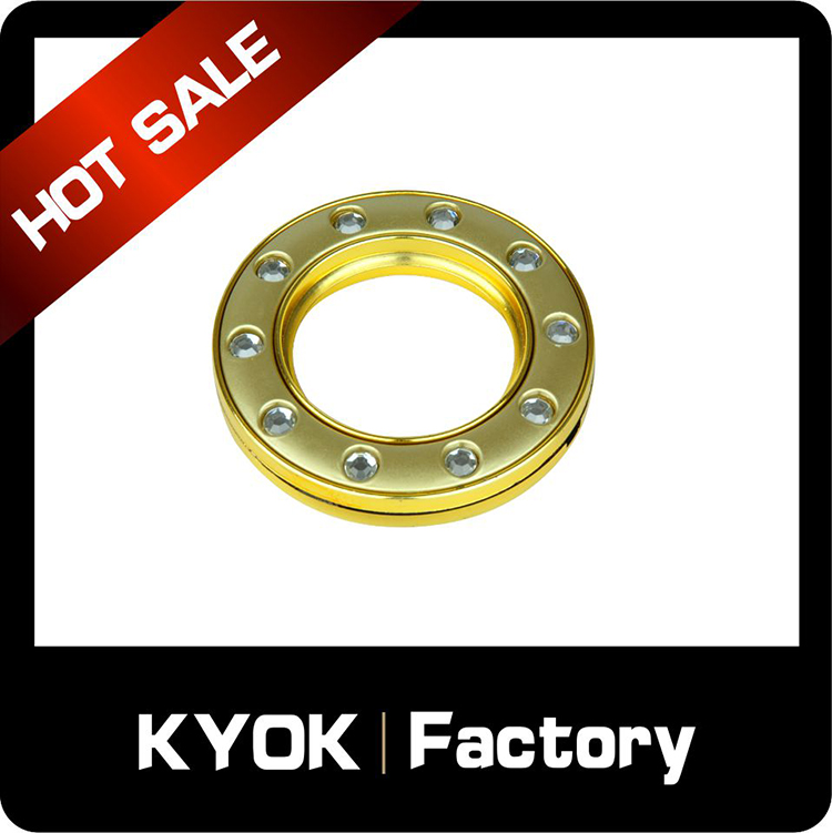 KYOK Wrought iron fashion custom metal curtain eyelets,metal bronze shower curtain hook rings,decorative plastic grommets ring