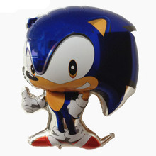 Groothandel aluminium Opblaasbare cartoon Sonic <span class=keywords><strong>Folie</strong></span> <span class=keywords><strong>Ballonnen</strong></span> voor Party Decor kids gift speelgoed