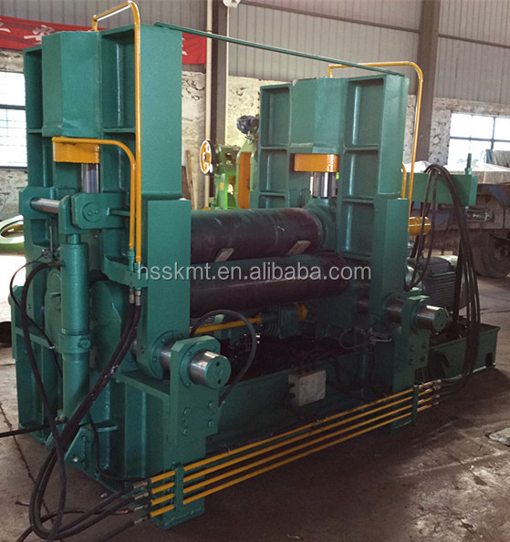 3 Roller Iron / Aluminium Sheet Rolling Machine, Mechanical Plate / Sheet Rolling Machine, 3 Roller Bending Machine