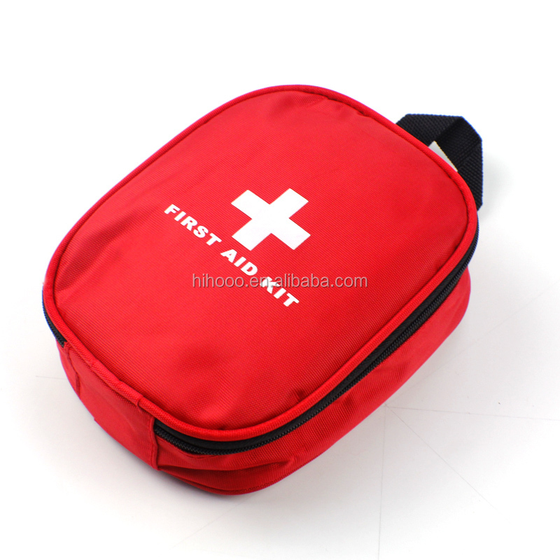 new design easy carry emergency bag waterproof red small first aid kit bag outdoor medical nylon