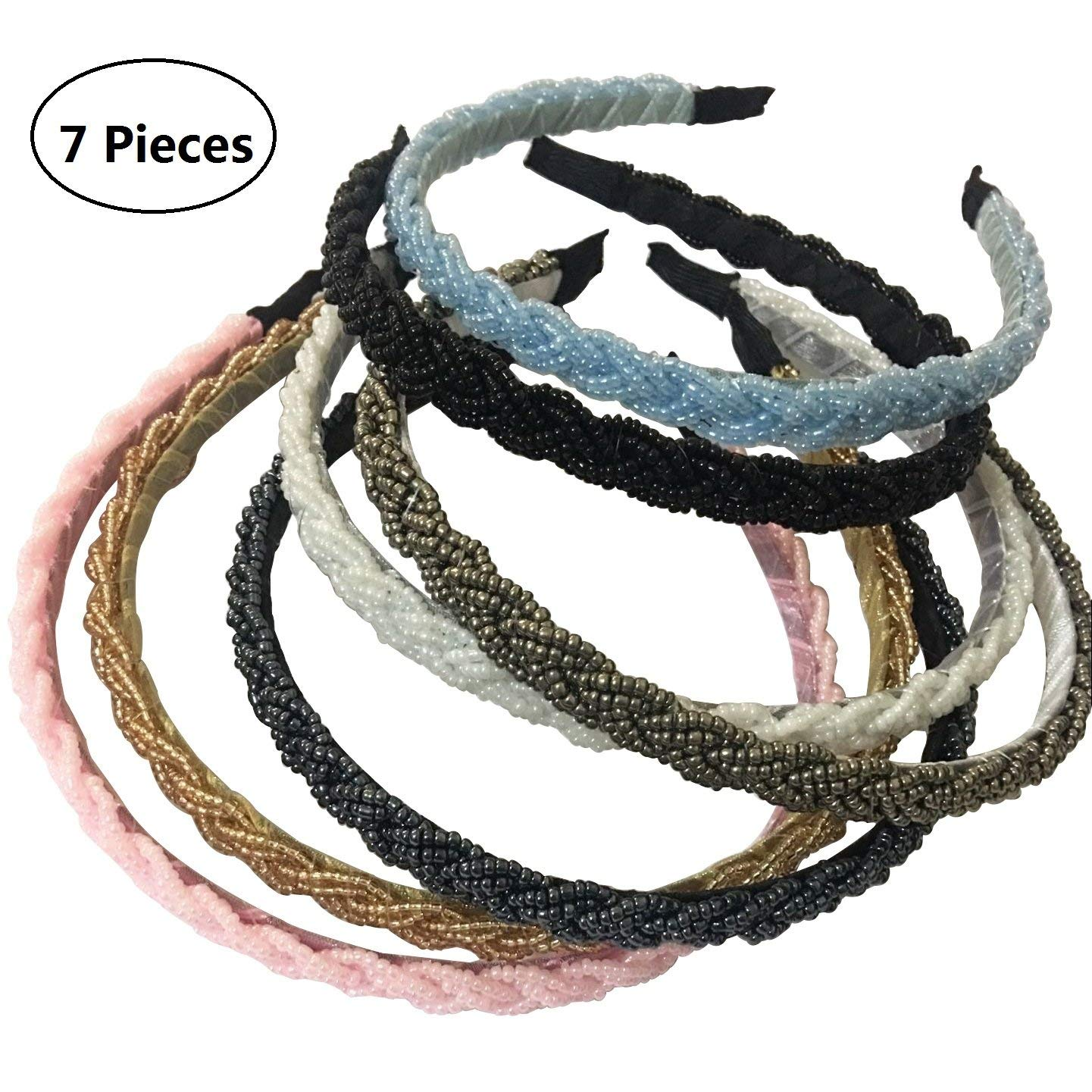 Baoblaze Pack of 50 Fashion Design Jewelry Findings Bead Cap Necklace Leather Cord End Caps Tassel Crimp End Connector Fabric Flower Pieces DIY Jewelry Making Craft Hair Ponytail Hair Band Making