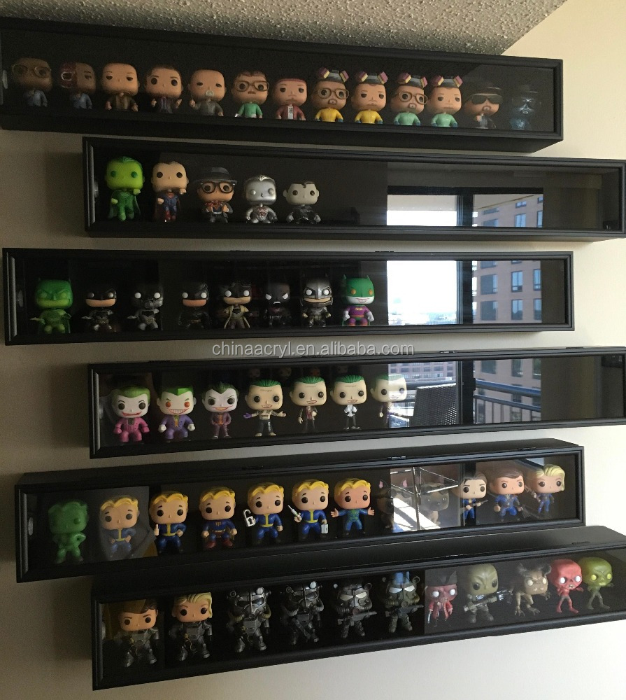 Groothandelaar acryl funko pop cijfers display stands funko pop marvel display rekken