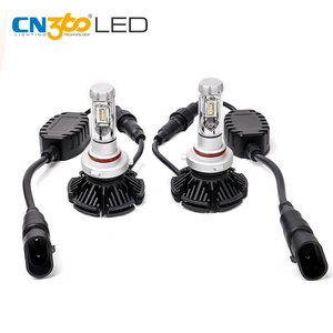 Fanless motorcycle light bulbs adapter led car headlight kit h4 9004 9005 9007 h13