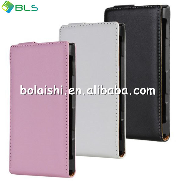 High quality open up and down leather case for nokia lumia 900