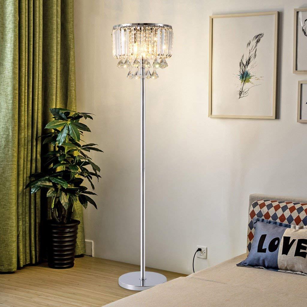 Edge To Floor lamp Creative Post-modern Luxury Crystal Floor Lamp, Crystal Bedside Lamp Bedroom Living Room Simple Modern Coffee Table Lamp Vertical Lamp