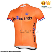 2016 Quick Dry Full Zipper 1/4 Zipper Mountain Bike National Team Short Sleeves Cycling Jersey