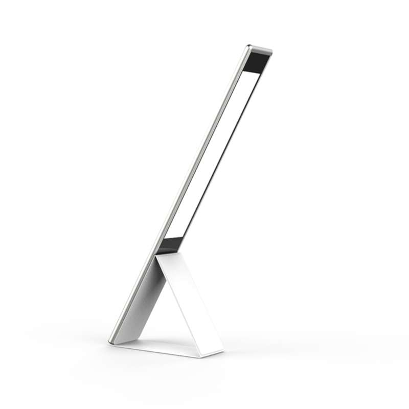 new design study dimmable touch led foldable desk lamp with wireless charger