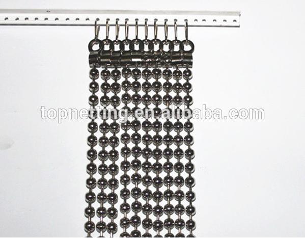 Stainless Steel Metal Bead Curtain Screen/shiny Metal Ball Chain