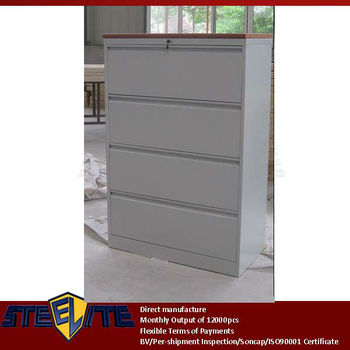 lockable extra wide metal 4 drawers divider cabinet furniture plywood top / Diy widely used steel 4 drawer base cabinet