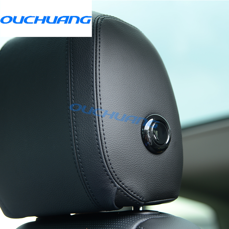 Black headpillow Adjustment Decoration Button Cover Trim Car Styling For Land Rover Discovery Sport 2015 2016 2017 Accessories