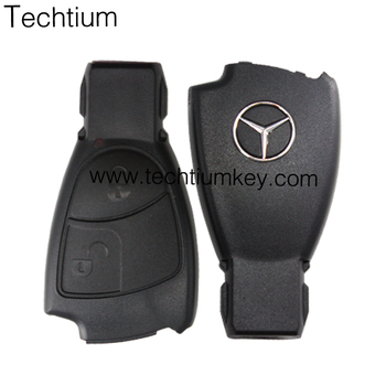 High Quality 2 Button Remote Key Fob Case Shell With Logo For Mercedes Benz Smart Fortwo  Replacement Car