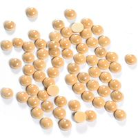 Top grain different types olivine yellow half-round pearl hot fix