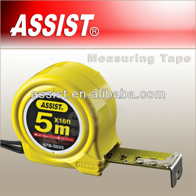 ASSIST wholesale Plastic ABS tape measure 3m 5m 7.5m steel tape measure