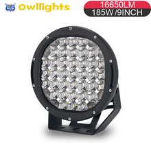 2018 hot new products 4x4 Offroad Car Parts 9 Inch 185w LED Headlight 4x4 LED Spotlight Driving Light For SUV UTV ATV Jeep