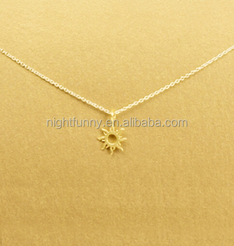 1e2e12deeb9a58 Sun - Gold Layering Necklace - Dogeared Good Vibes Only Radiant Necklace