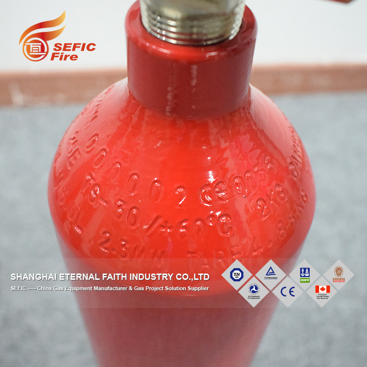 TPED Approved/certification Extinguisher Fire 6kg Co2 Fire Extinguisher For Fire Fighting