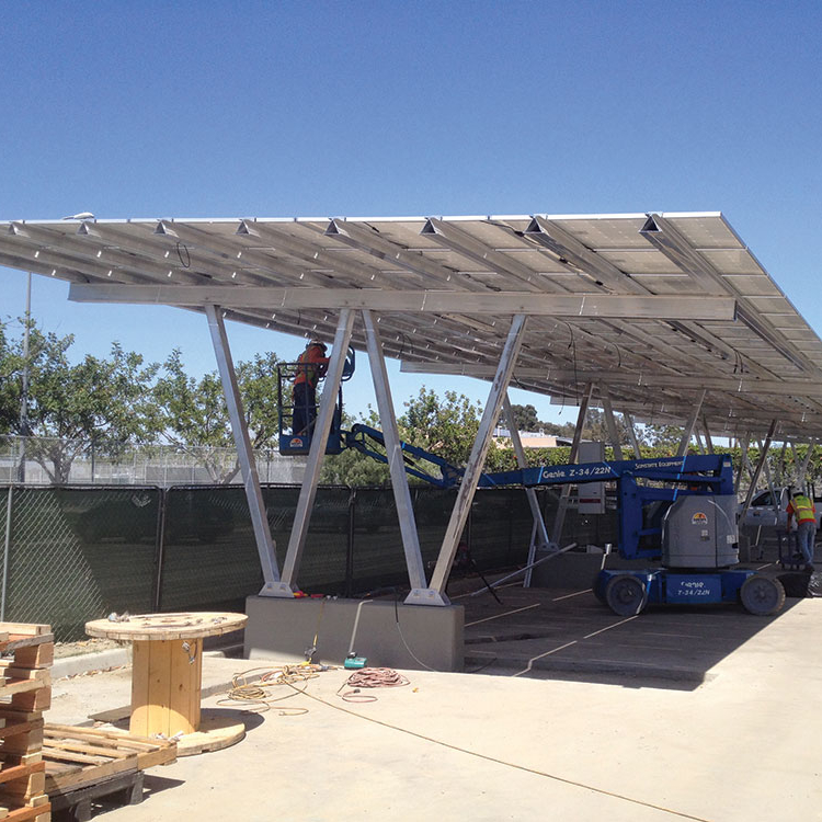 Best sun solar <strong>energy</strong> 5000w carport pv system with solar panels price structure design