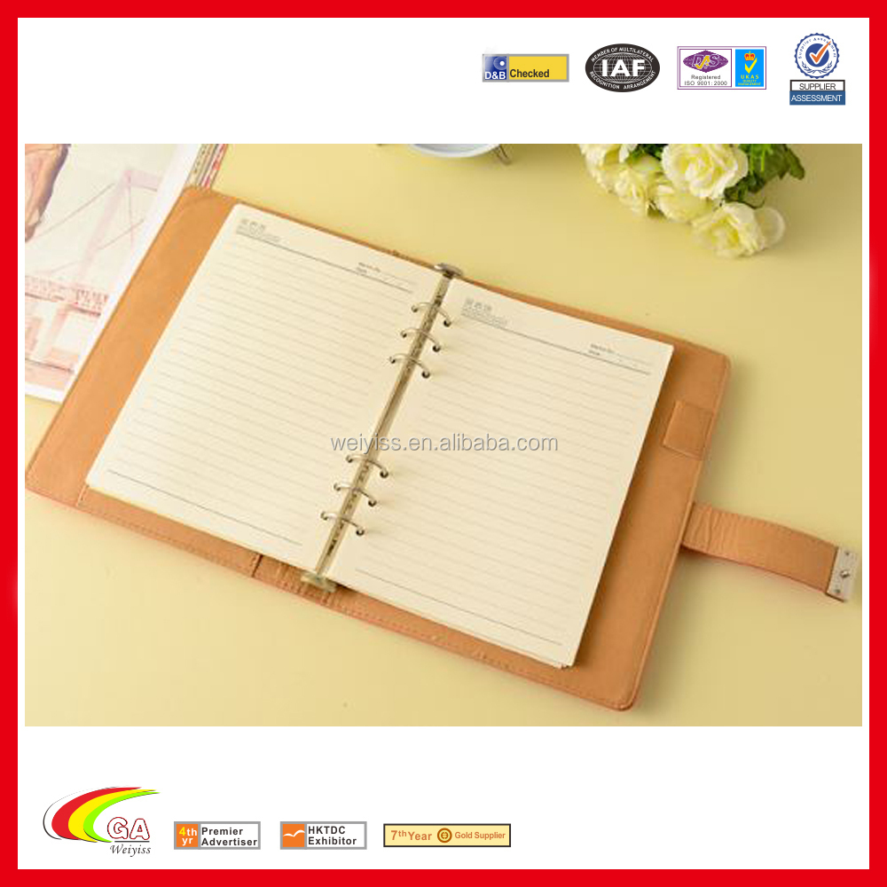A5 Leather Notebook Paper Spiral Notepad Notebook Binder Fashion ...