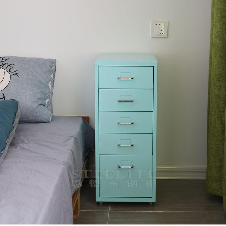 האופנה האופנתית מתכת קטנה ארון אחסון מגירת שידה שליד המיטה חדרי שינה לילדים עם OZ-43