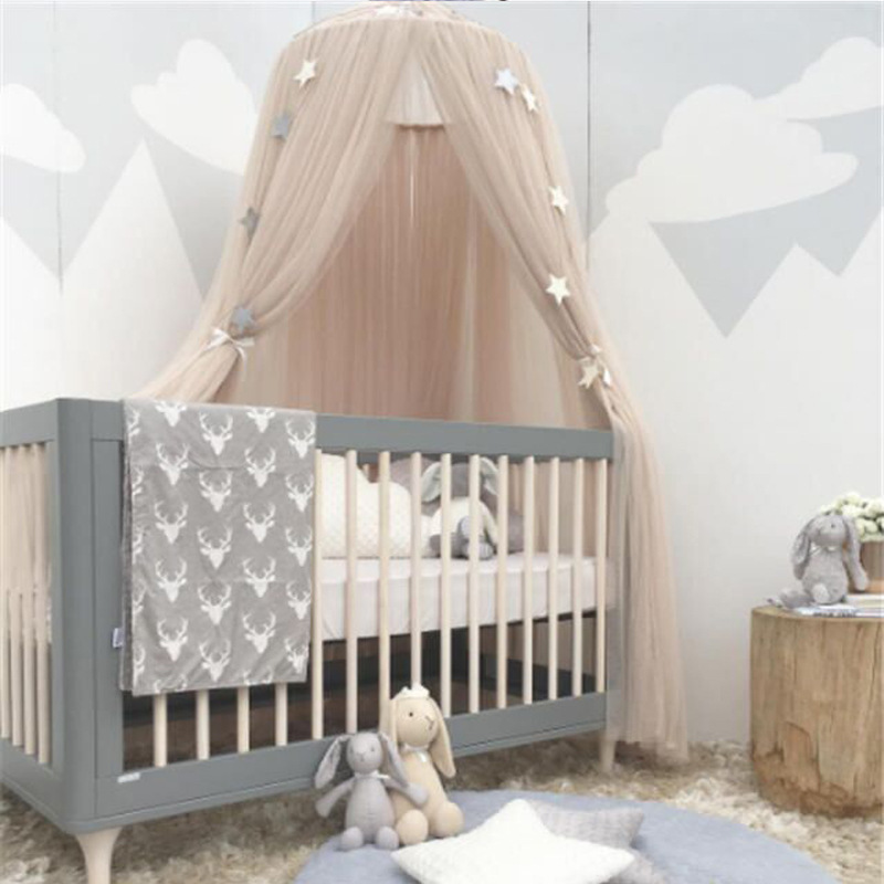 Fit Crib Twin Full Queen King Round Hoop Bed Canopy Netting Baby Crib Mosquito Netting Mosquito Bedding Net & Fit Crib Twin Full Queen King Round Hoop Bed Canopy Netting Baby ...